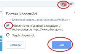 Permitir siempre ventanas emergentes en Google Chrome