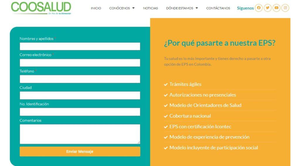 La Cooperativa Multiactiva de Desarrollo Integral (COOSALUD) es una EPS, entidad prestadora de salud, especializada en ofrecer servicios para el régimen